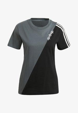 ADICOLOR SLICED TREFOIL REGULAR T-SHIRT - T-shirt imprimé - blue