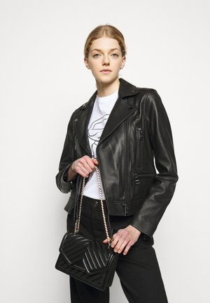 KLASSIK QUILTED CROSSBODY - Across body bag - black
