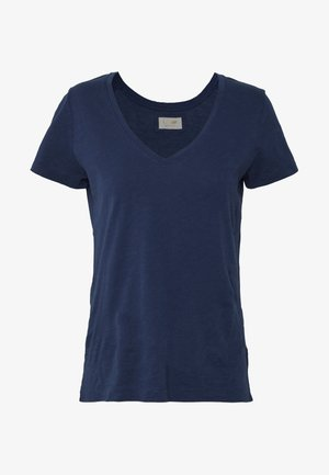ARDEN V NECK TEE - Basic T-shirt - navy