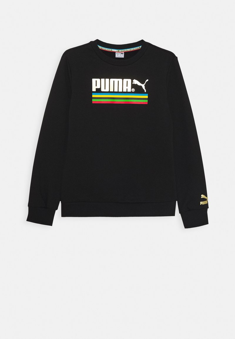 Puma - WORLDHOOD CREW - Mikina - black