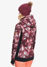 Roxy - FROST PRINTED - Fleece jacket - oxblood red leopold - 2