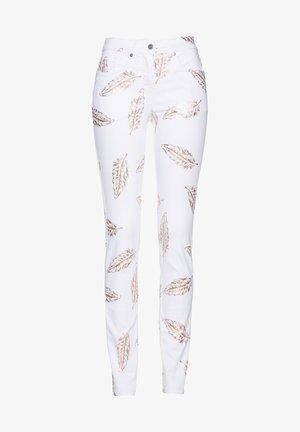 mit Federdruck Stilvolle  mit Allover- - Jeans Skinny Fit - weiß