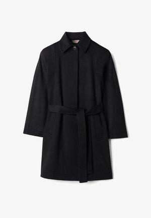 MIT SICHTBAREN STEPPNÄHTEN - Classic coat - nero
