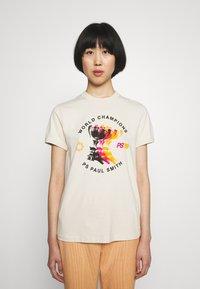 PS Paul Smith - WOMENS - Print T-shirt - beige - 0