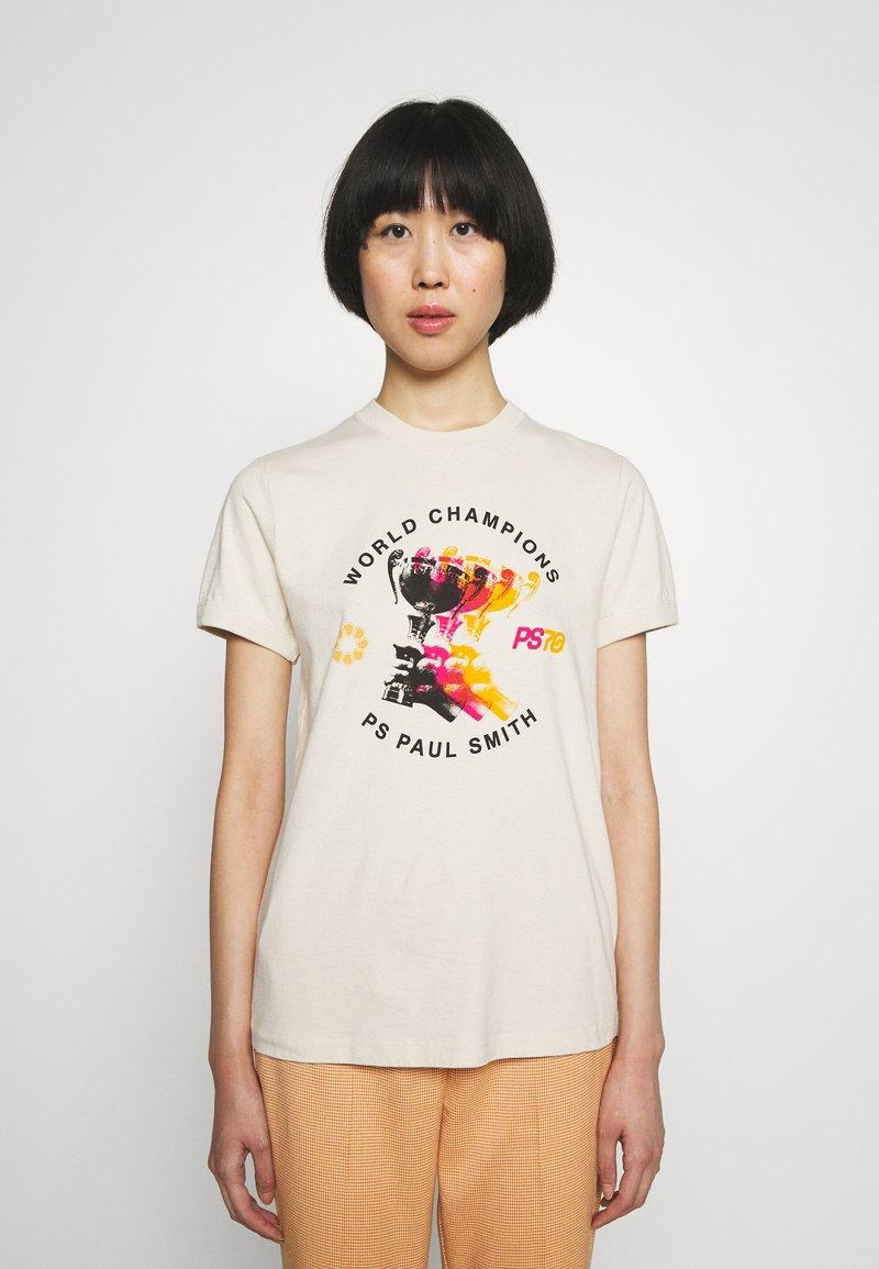 PS Paul Smith - WOMENS - Print T-shirt - beige