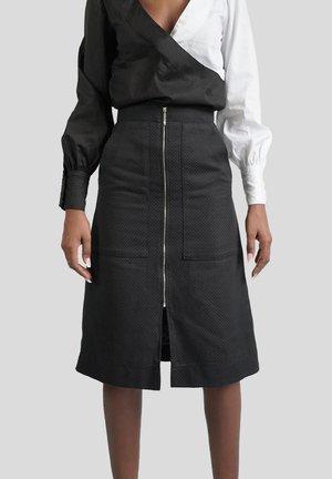 CARGOROCK - A-snit nederdel/ A-formede nederdele - schwarz