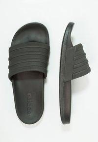 adidas Performance - ADILETTE MONO - Chanclas de baño - core black - 1