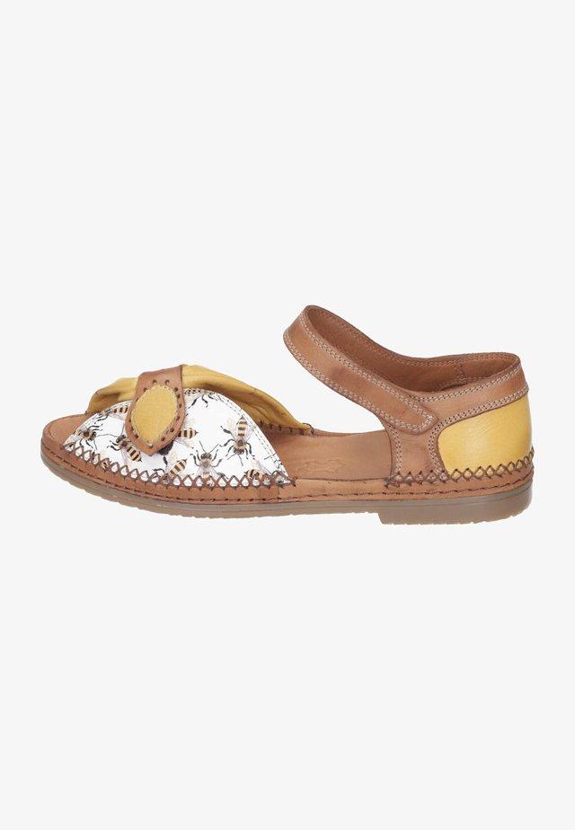 Sandals - weiß/gelb