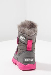 Sorel - WHITNEY VELCRO - Talvisaappaat - quarry/ultra pink - 3