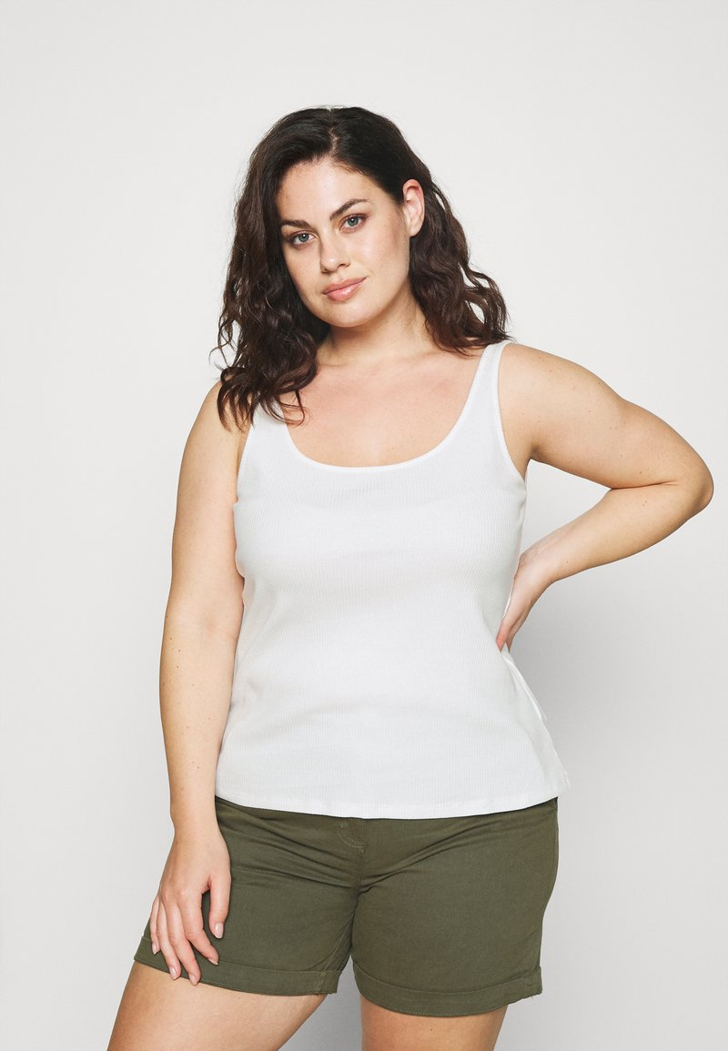 Selected Femme Curve - SLFNANNA TANK - Top - snow white