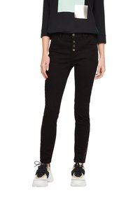 comma casual identity - HOSE LANG - Slim fit jeans - black - 0
