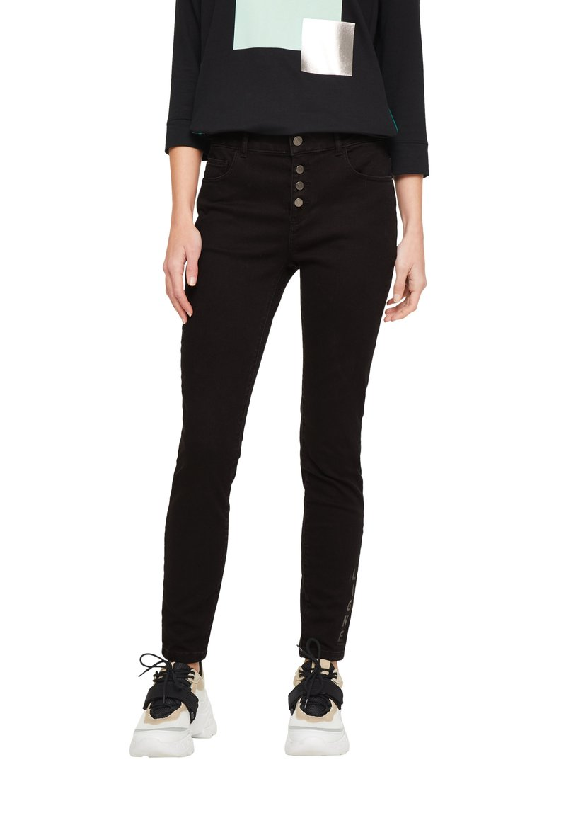 comma casual identity - HOSE LANG - Slim fit jeans - black