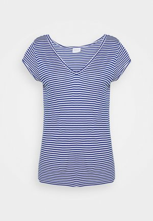 Basic T-shirt - mazarine blue/optical snow