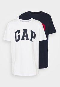 BASIC ARCH 2 PACK - T-shirt z nadrukiem - blue/white