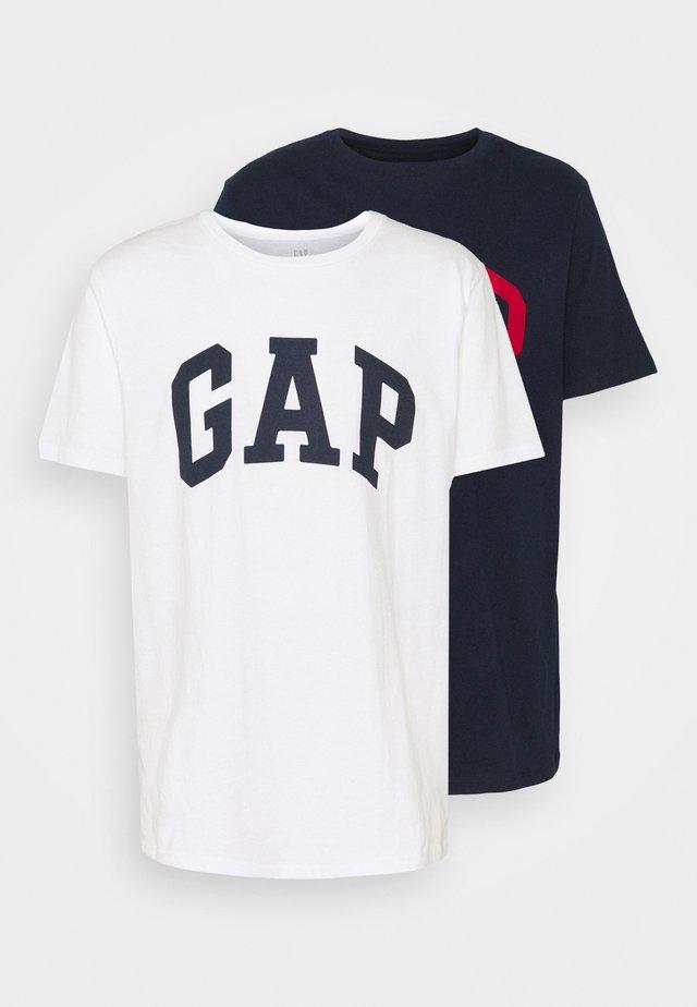 BASIC ARCH 2 PACK - Camiseta estampada - blue/white