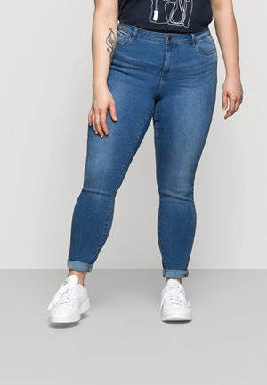 VMTANYA MRS PIPING  - Jeans Skinny Fit - medium blue denim