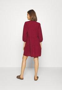 Vero Moda - VMMUSTHAVE BOHO 3/4 TUNIC  - Day dress - red - 2
