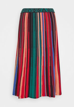 STRIPED SKIRT - Spódnica trapezowa - red