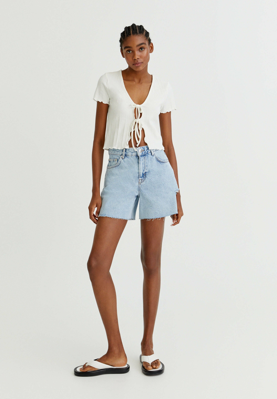 Damer Jeans Short / cowboy shorts