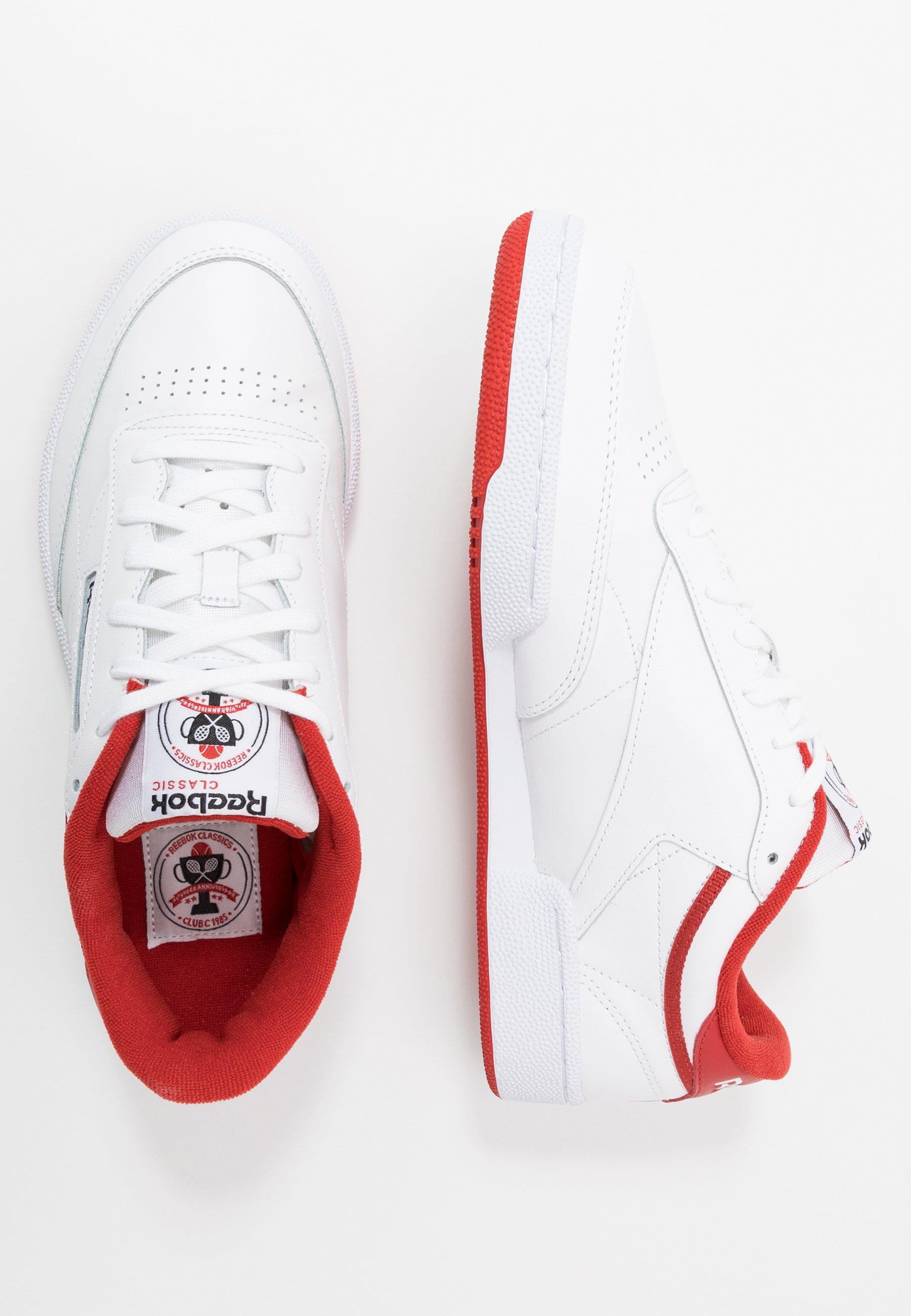 Reebok Classic CLUB C 85 - Joggesko - white/legend active red/black