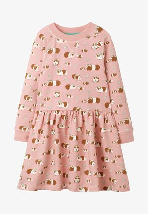 Jersey dress - chalky pink guinea pigs