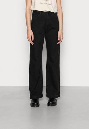 HIGH RISE WIDE LEG - Straight leg jeans - black wash