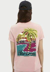 Scotch & Soda - Print T-shirt - petal pink - 2