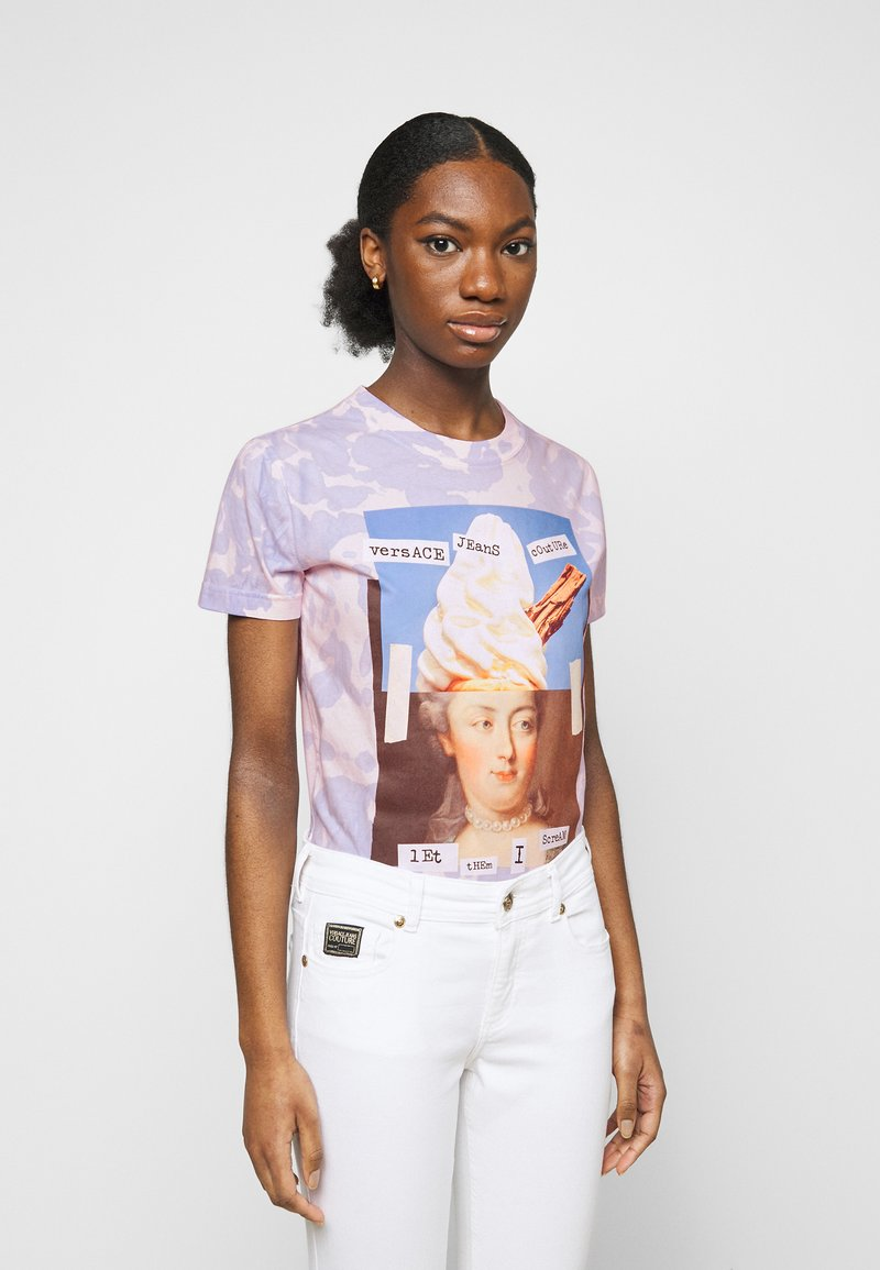 Versace Jeans Couture - Print T-shirt - blue bell/pink confetti