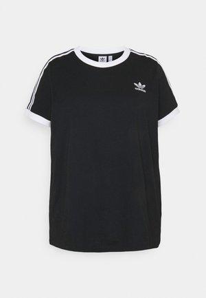 3 STRIPES TEE - T-shirt z nadrukiem - black