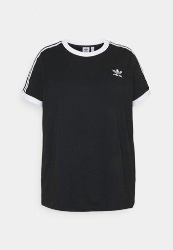 3 STRIPES TEE - T-shirts med print - black