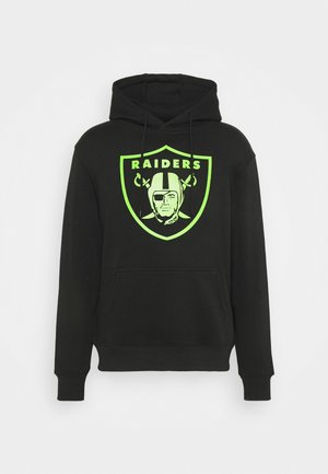 NFL LAS VEGAS RAIDERS NEON POP CORE GRAPHIC HOODIE - Mikina - black