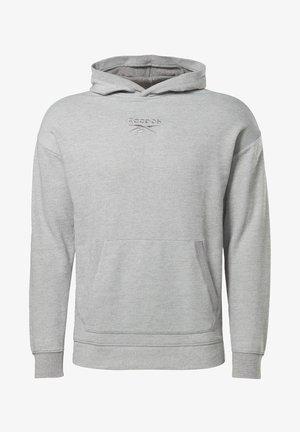TRAINING ESSENTIALS MÉLANGE HOODIE - Jersey con capucha - grey