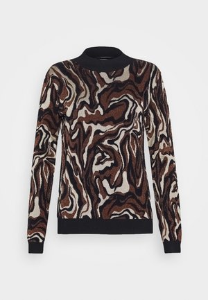MARBLE JACQUARD - Pullover - black