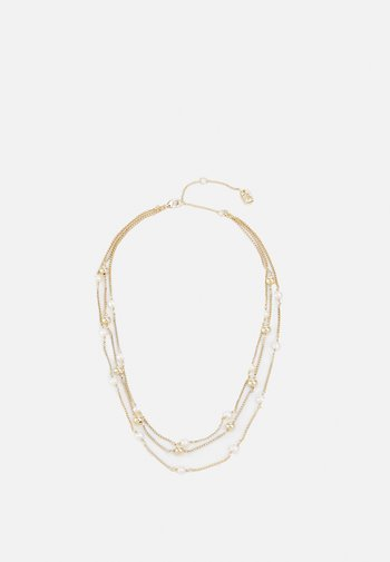 MULTIROW COLLAR - Necklace - gold-coloured/white