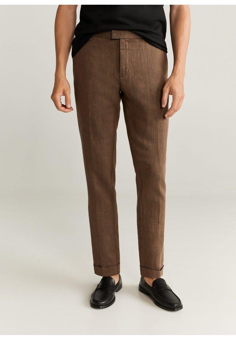 Mango - Trousers - brun