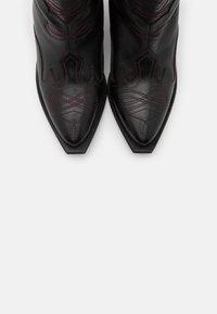 Gioseppo - SERAING - Cowboy/biker ankle boot - black - 5