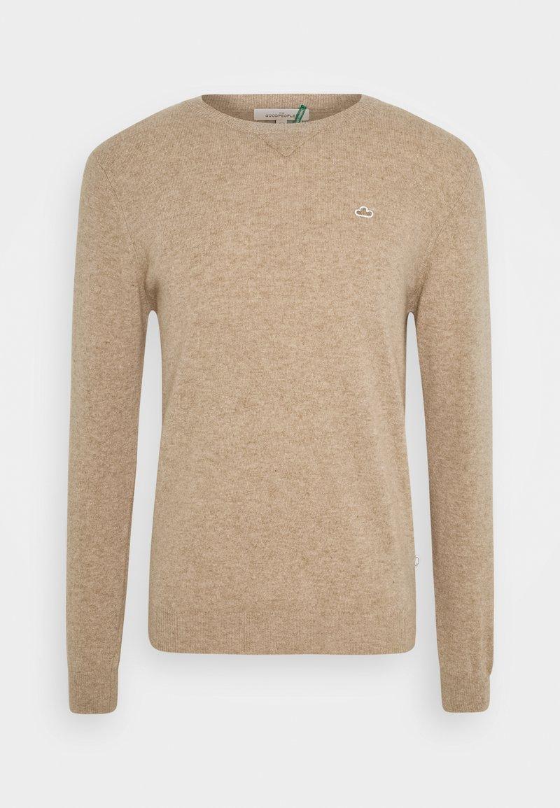 The GoodPeople - KNOX - Stickad tröja - beige