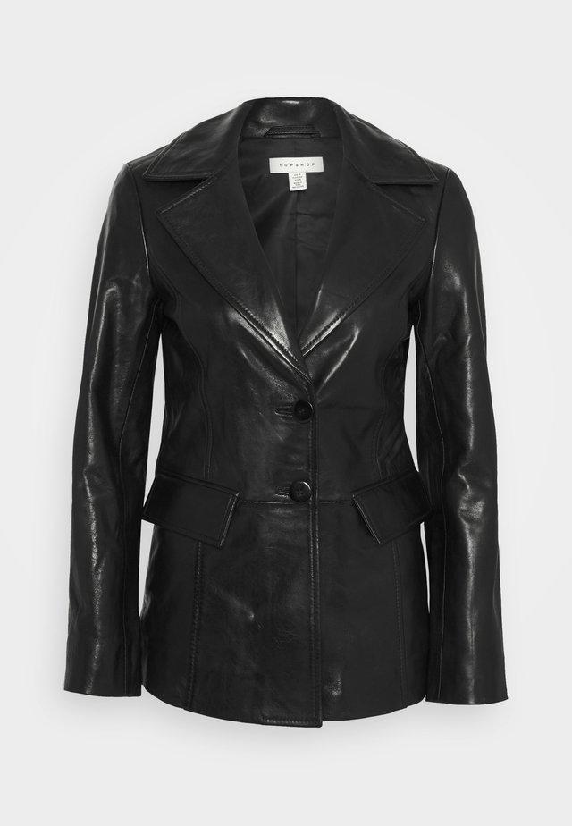 MORGAN - Leren jas - black