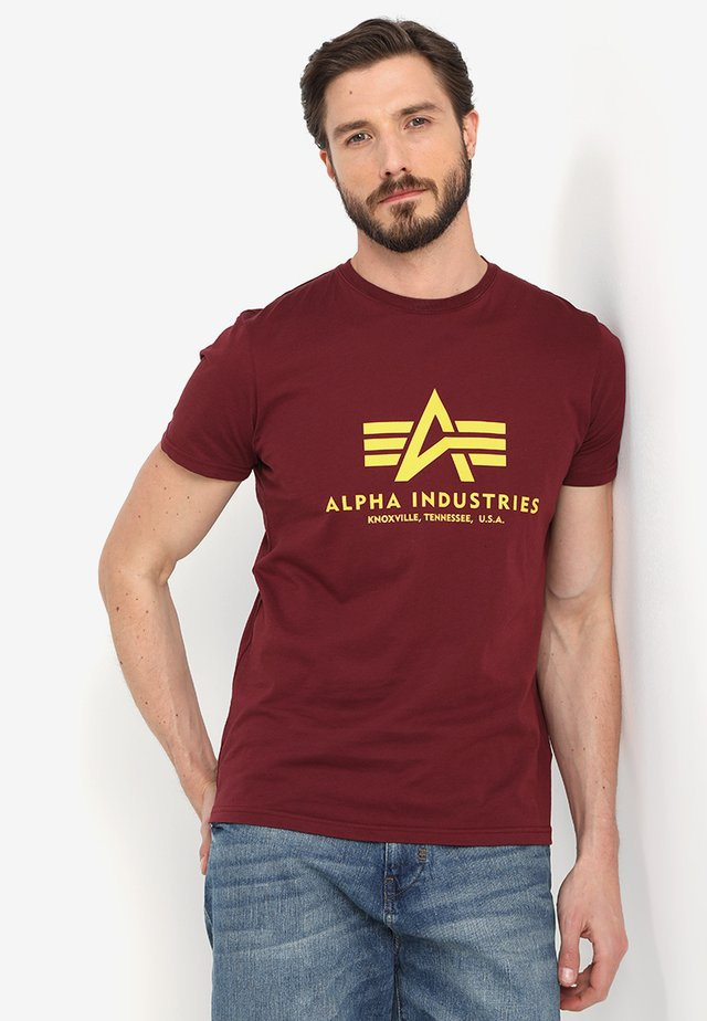 BASIC - T-shirt imprimé - burgundy