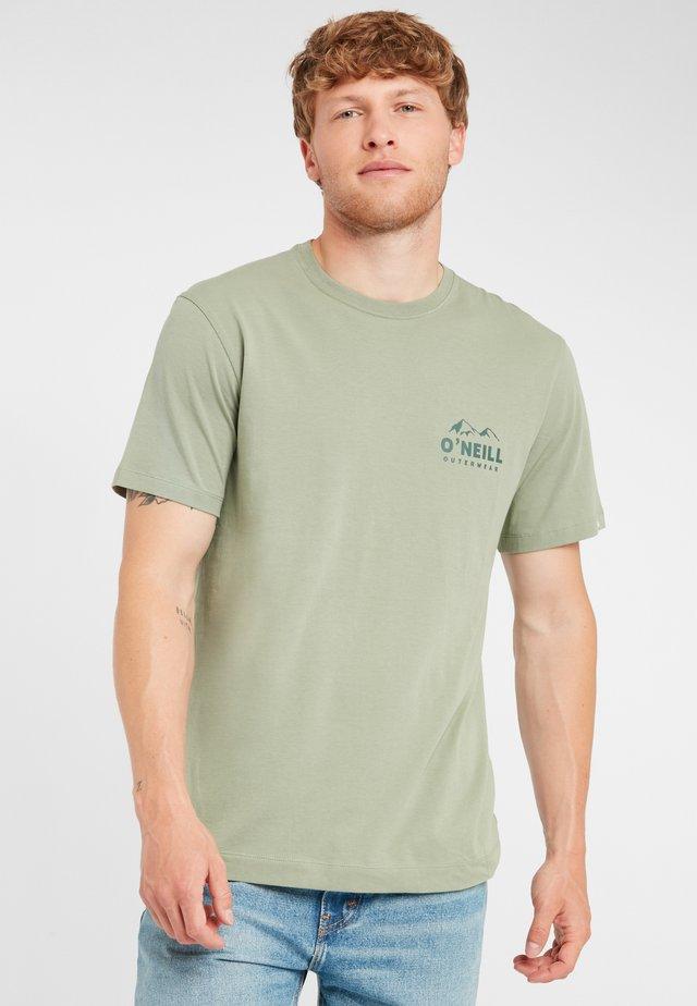 ROCKY MOUNTAINS  - T-shirt imprimé - green blue