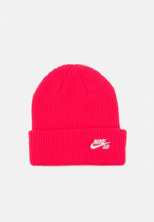 FISHERMAN BEANIE UNISEX - Czapka - light fusion red/white