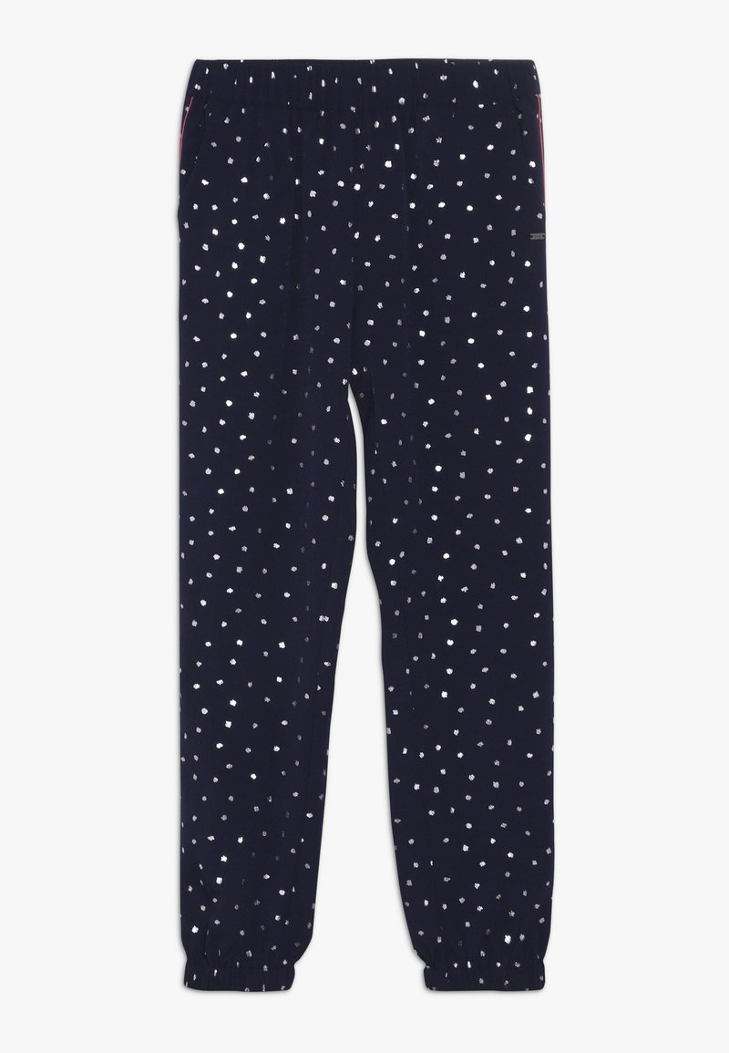 Tommy Hilfiger - PRINTED CUFFED PANTS - Trousers - blue