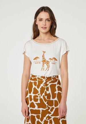 T-shirt print - marrón