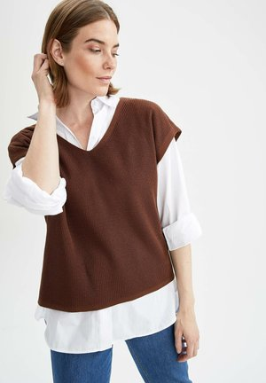 OVERSIZE FIT - Basic T-shirt - brown