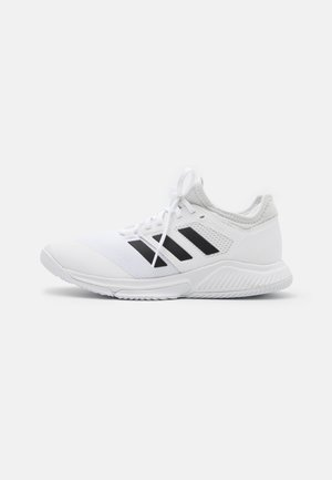 COURT TEAM BOUNCE INDOOR SHOES - Handball shoes - footwear white/core black/silver metallic