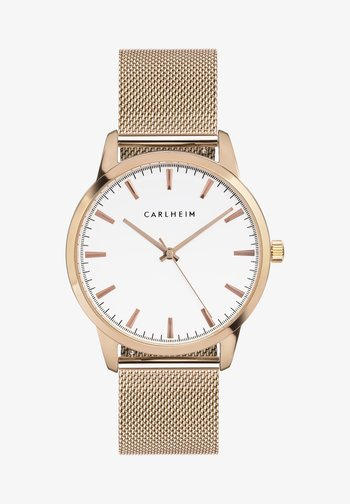 Watch - rose gold/white