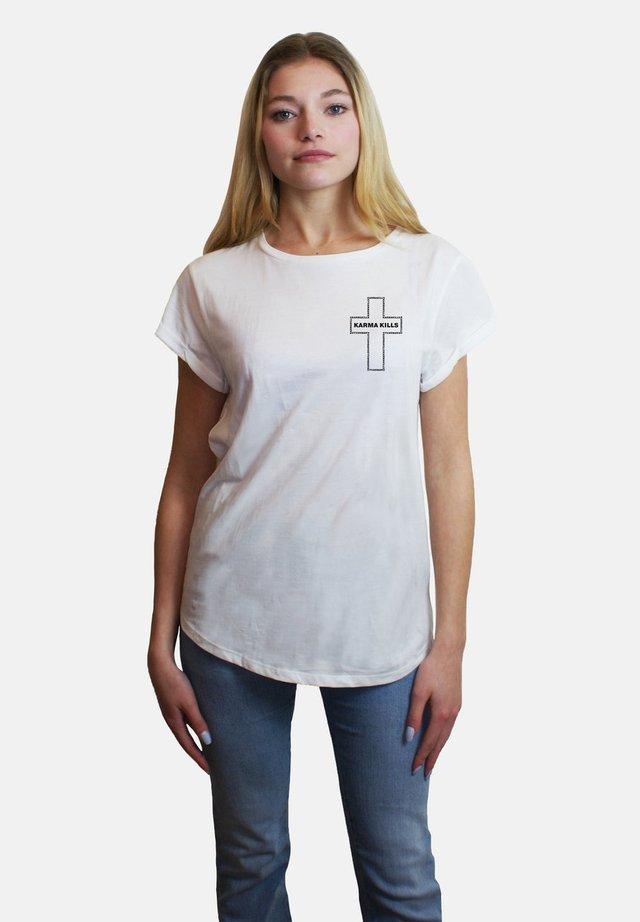 KARMA  - T-shirt imprimé - white