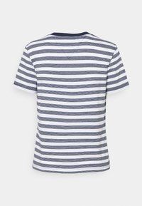 Tommy Jeans - CLASSICS STRIPE TEE - Print T-shirt - white/navy - 6