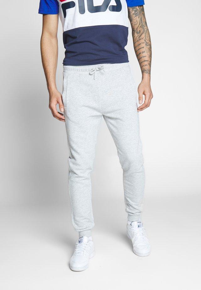 EDAN PANTS - Teplákové kalhoty - light grey melange bros