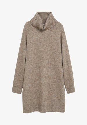 TALDORA - Pletené šaty - středně hnědá